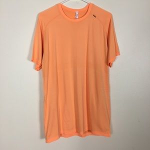 Lululemon Orange Metal Vent Tech Short Sleeve